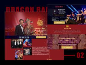 DRAGON BALL landing page