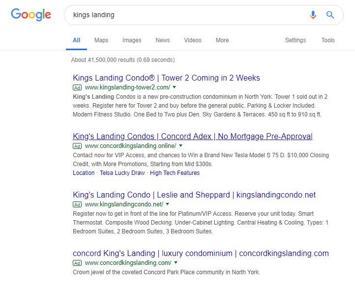 kingslanding-on-google-serp