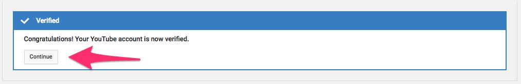 YouTube频道认证