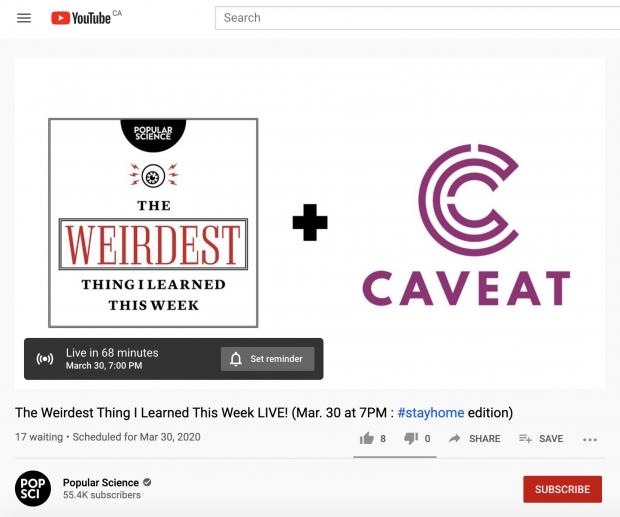 YouTube直播预告