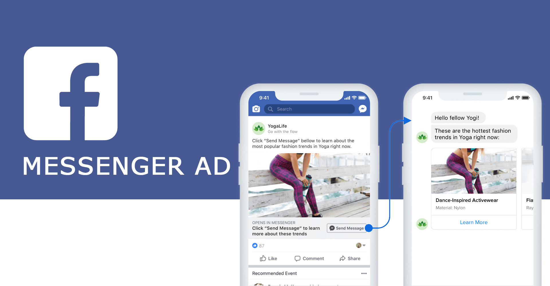 facebook Messenger ad 广告